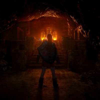 I created and composited the stone portion of the Fire Temple into a photo I had taken inside a Lava Tube for The Zelda Project in 2011.