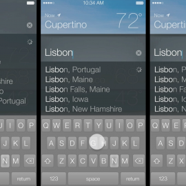 iOS 7 – UI Motion Explorations
